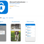 Image of MS Authenticator in app store